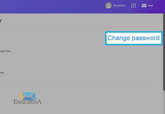 Change yahoo account Password