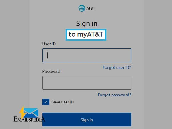 "Click on ""my AT&T"" and then enter your email address and password"