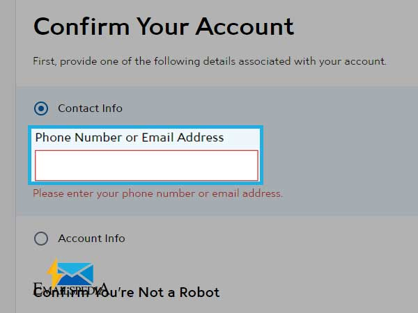 need to create a username and password for your account