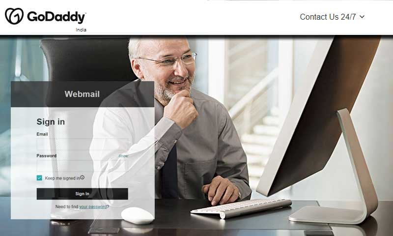How to login to GoDaddy Webmail account