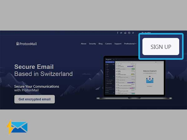 Open ProtonMail sign-up page