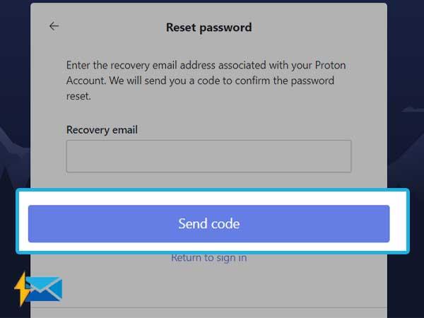 select Send Code